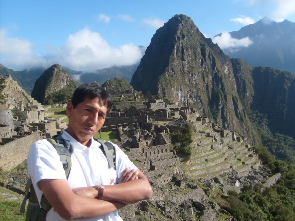 Efrain at Machu Picchu