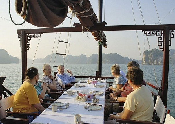Breakfast at Halong Bay.jpg - Vietnam - Meet the People Tours