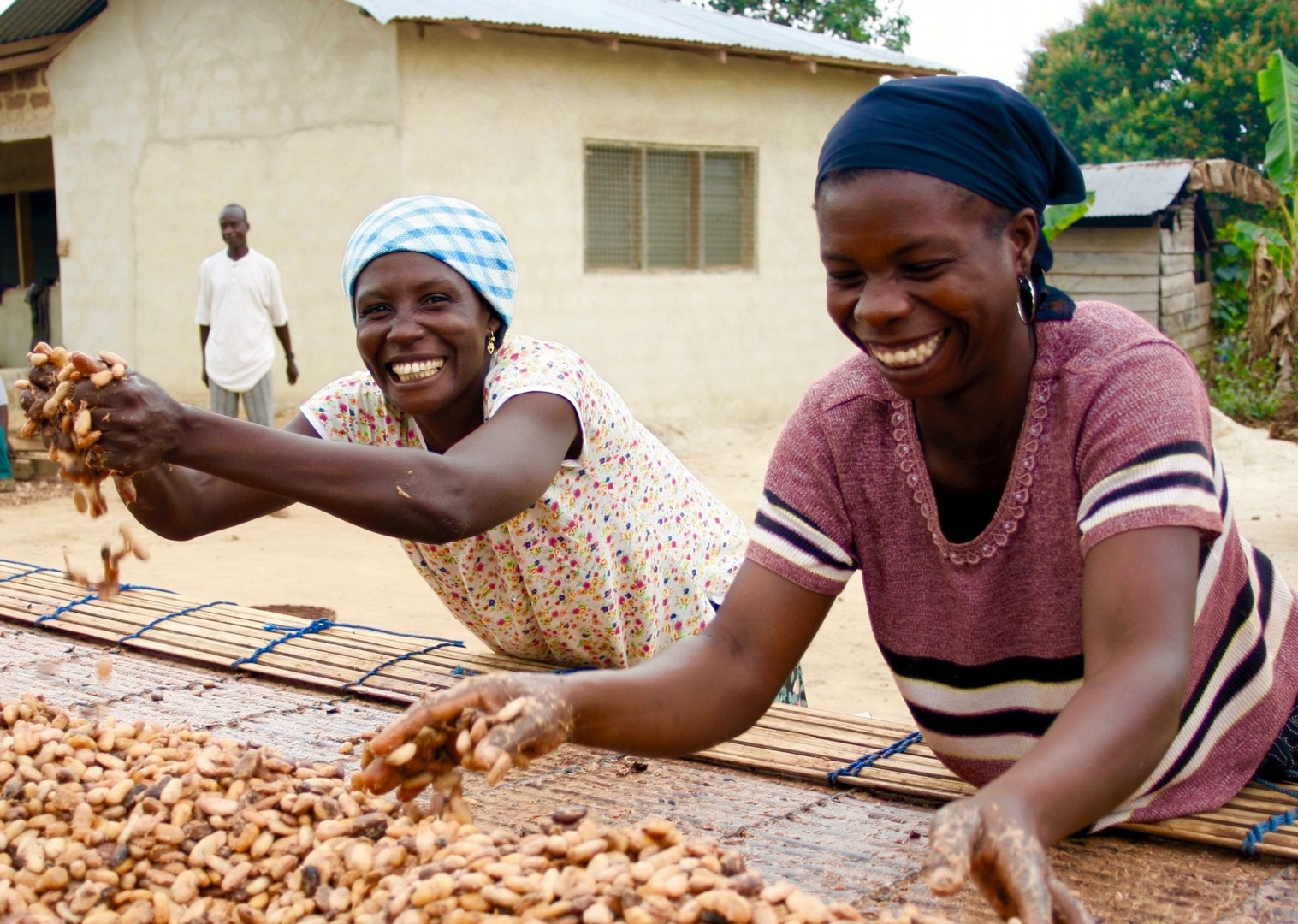 Ghana drying cocoa.jpg - Ghana - Meet the People Tours