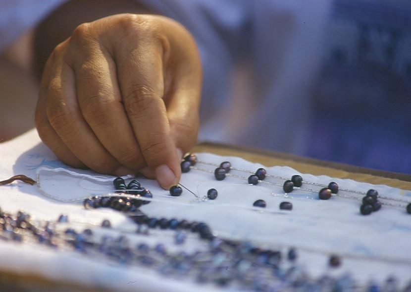 Bead jewellery being made.jpg - Thailand - Meet the People Tours