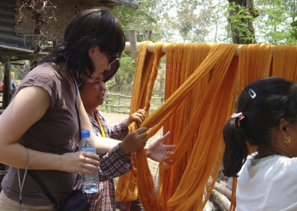 Naturally dyed silk.jpg - Thailand - Meet the People Tours